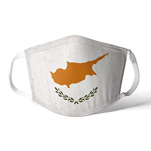 M&schutz Maske Stoffmaske X Groß Europa Flagge Zypern/Zyprische Wiederverwendbar Waschbar Weiches Baumwollgefühl Polyester Fabrik