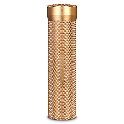 HAWAN Cigar Case Portable Travel Humidor Built-in Humidifier and Hygrometer for 3-5 Cigar Tube(Color:Gold)