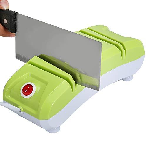 Messenslijper, een groot aantal gereedschappen, om te slijpen zonder de messen te beschadigen, antislip design, snel en eenvoudig te monteren. Groen