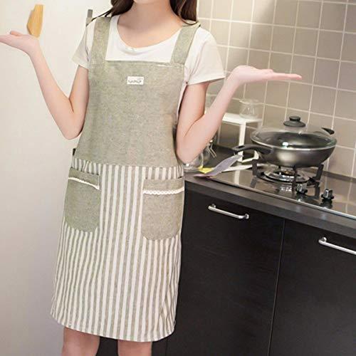 YLCJ schort, Koreaans, keuken, schort van puur katoen, restaurant voor dames, werkkleding, blouse, vest zonder mouwen, voor heren, Japanse stijl, keuken, C