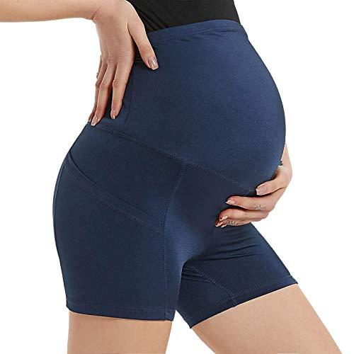 Junjie Leggins Mujer Pantalones Casuales de Maternidad Pantalones Elásticos y Cómodos Gran Elásticos Suaves Cintura AltaPantalones Deportivos