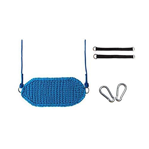 Hong Yi Fei-Shop Relaxdays Columpio Juego ergonómico portátil for niños Swing Juego Elevador de Silla Diseño ergonómico Adecuado for Interiores y Exteriores Hamaca Doble (Color : Blue-A)