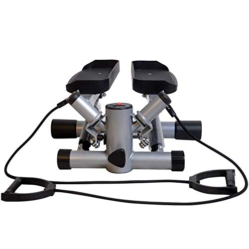 AUKLM Portable Stepper Mini Fitness Exercise Machine with Resistance Band and LCD Display,Use for Consumption of Fat & Enhance Physical Fitness