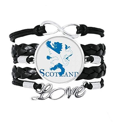 OFFbb-USA León escocesa dedo art decó regalo pulsera de moda amor accesorio trenzado cuerda de tejer pulsera regalo