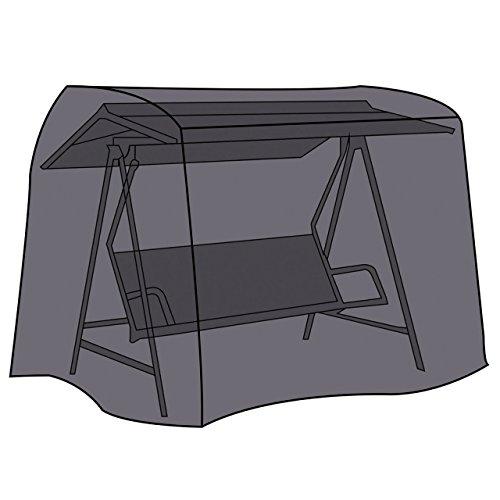 LEX Schutzhülle Deluxe für Gartenschaukel, 210 x 150 x 130 cm, Kastenform, Drei-Sitzig, 2 Reißverschlüsse, Tragetasche