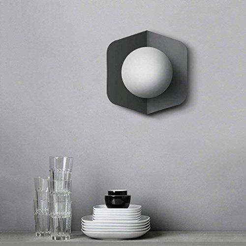 DSJ Nordic creatieve eenvoudige moderne woonkamer trap gang slaapkamer nachtkastje wandlampen, grijs