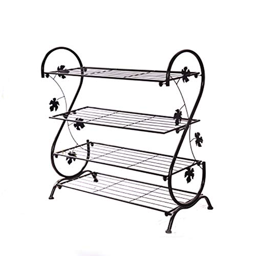 Vier-Layer Schuh Rack Wrought Iron Simple Shoe Rack Multi-Layer Lagerung Schuhschrank...