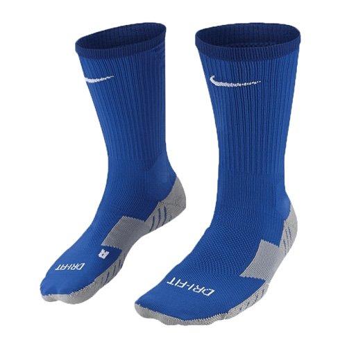 Nike Herren Matchfit Cushion Crew-Team Socken -Blau (Royal Blue/Bright Blue/White) , XS