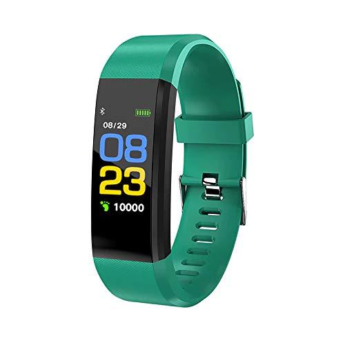 KawKaw Activity Fitness Tracker mit hochauflösendem OLED-Display, leichte und wasserdichte Fitnessuhr für Damen und Herren, mit Fitnesstracker, inkl. Blutdruckmessung (Grün)