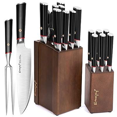 Knife Set, Kitchen Knife Set with Craving Fork ...