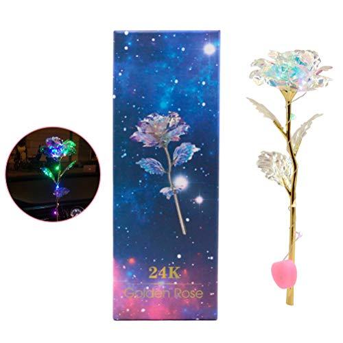 EisEyen 24K Galaxy Rose mit/ohne Licht Geschenk zum Valentinstag Jubiläum Geburtstag Hochzeit