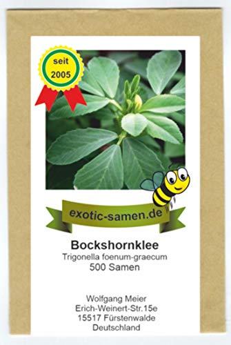 Bockshornklee - Bienenweide - Gewürz- und Arzneipflanze - salz- und trockentolerant - 500 Samen