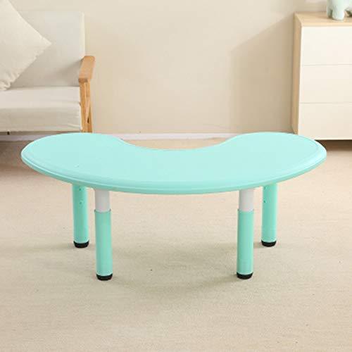 Gekrümmte Designed Kindergarten Kinder Hubtisch Baby Learning Spielzeug Tisch Tisch Kinder Werkbank, ergonomisches Design Wohnzimmertisch (Farbe : Grün, Größe : 120x65x60cm)