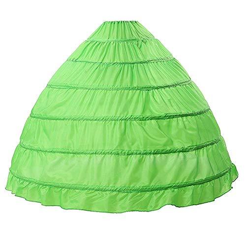 Shaoyao Petticoat 6 Reifrock Unterröcke Damen Lang Fur Brautkleid Hochzeitskleid Vintage Crinoline Underskirt. Grün