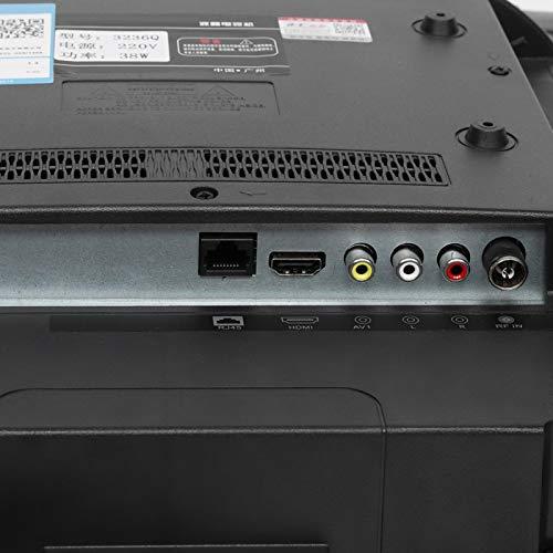 Yunseity TV de Pantalla Curva Grande de 43 Pulgadas, TV Inteligente 4K de curvatura 3000R, versión de Red HDR HD TV 110V(EU)
