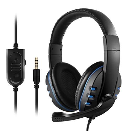 Swiftswan 3,5 mm Kabelgebundenes Gaming-Headset In-Ear-Gaming-Headset Noise Cancelling-Headset mit Mikrofonlautstärkeregler