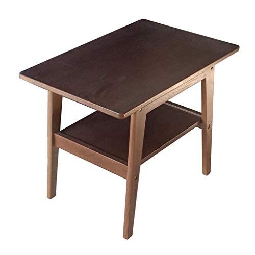 Petite Table Basse Petite Table Basse Salon Canapé Coin Balcon Balcon Carré Table Basse Japonaise Table De Rangement Double Rangement pour la Cuisine (Color : Brown, Size : 40 * 60 * 48.5 cm)