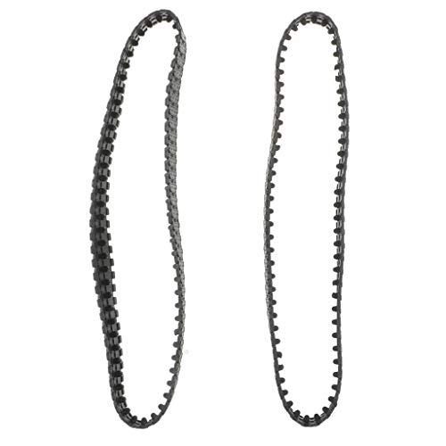 Pair of 66cm Rubber Tank Track for DIY Robot Replacement Kits Science Toy