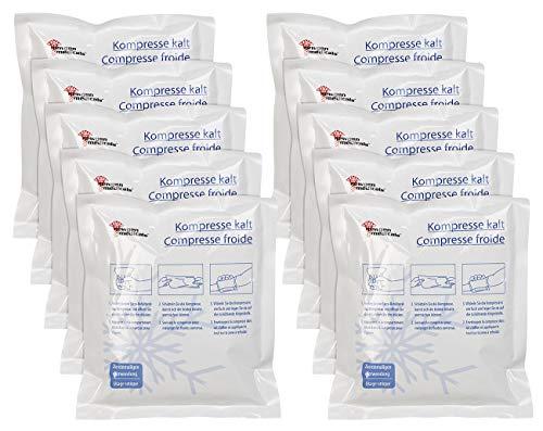 newgen medicals Kühlpack: 10er-Set Einweg-XL-Kühlkompressen zur sofortigen Anwendung, 15 x 17 cm (Kühl-Pad)