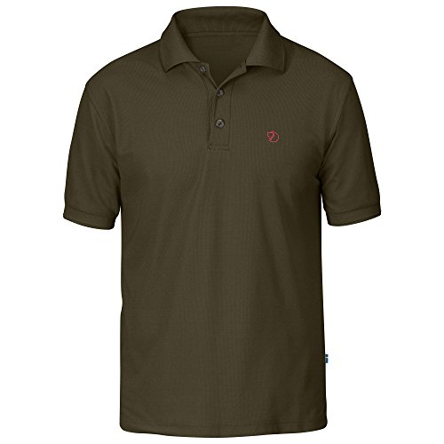 Fjällräven Herren T-shirt Crowley Pique, Dark Olive, XL, F81783-633