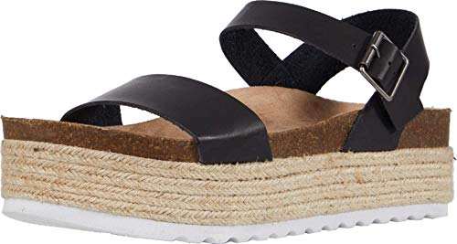Dirty Laundry by Chinese Laundry Women's Wedge Sandal, Black, 9.5