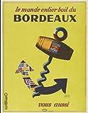 Bordeaux-Wein-Poster, Reproduktion, Format 50 x 70 cm,