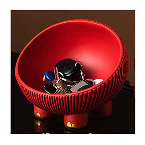 Cosméticos Joyería Organizar, Caja De Almacenamiento De Bandeja De Frutas, Decoración De La Sala De Estar De Escritorio, Accesorios para El Hogar, Bocadillos De Frutas Y Cosméticos(Color:Rojo)