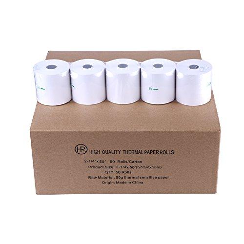 57 x 38 Thermal Credit Card Machine Till Roll Receipt Paper 2 Box 40 Rolls 57 x 38 x 12.7mm Core 57x40 Fit Verifone V240M