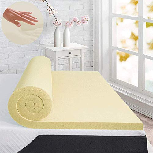 iStyle Mode Orthopaedic 100% Memory Foam Mattress Toppers Double Bed Size Premium Quality 1' Thickness