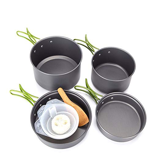 Portable Camping Set Olla Outdoor Portable Camping Set Olla Picnic Menaje Senderismo Estufa Cabeza Set Pot
