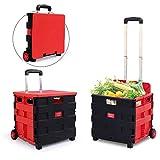 YSA Panier d'achat Acheter Chariot de Nourriture Pliant Portable boîte de Stockage de Voiture de supermarché Chariot de supermarché