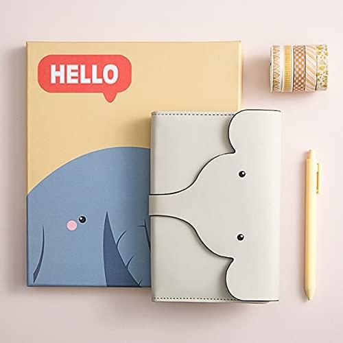 XIECUI cuadernoAgenda creativa Cuaderno Diario Diario Cuadrícula Páginas Planificador diario mensual Registro de vida Bloc de notas con bolígrafo Papelería escolar Regalos A6 Amarillo