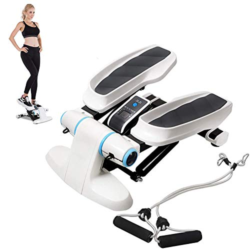ESACLM Cardio Fitness Stepper Mini Fitness Máquinas De Step con Cuerda Elastica Up-Down Stepper para Usuarios Principiantes y Avanzados