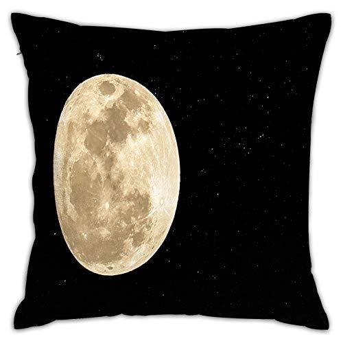 LINARUBE Funda de Cojín,Luna Llena pequeña Estrella Noche Oscura,Funda de Almohada Cuadrado para Sofá Coche Cama Sillas Decoración para Hogar(45 x 45cm)