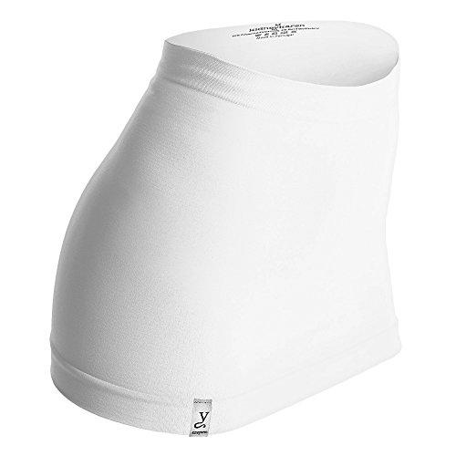 Kidneykaren Nierenwärmer Basic- Tube Multifunktion Yogagurt Fitness & Freizeit weiß, Größe:S