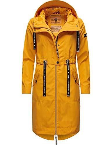 Navahoo Damen Parka leicht Übergangs-Jacke mit Kapuze Josinaa Amber Yellow Gr. XS