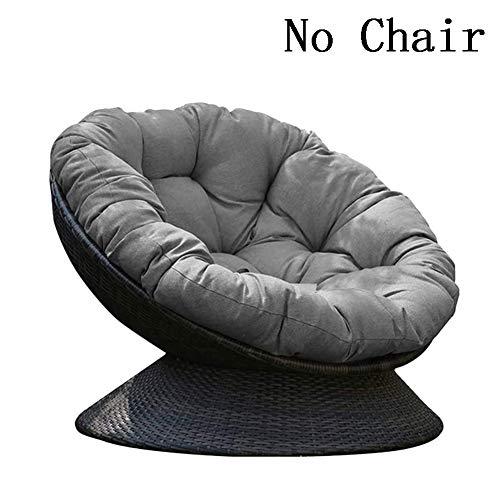 MM-CDZ Round Thicken Papasan Chair Cushion For Outside Hanging Egg Hammock Chair Cushion Patio Swing Chair Cushion For Outside Garden Silver 50x50cm(20x20inch)