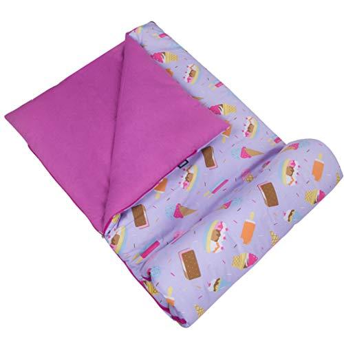 Wildkin Saco de Dormir para el niño niños y niñas, Incluye Almohada y Cosas Saco, tamaño Pijamas Partes, campamentos y Viajes Durante la Noche