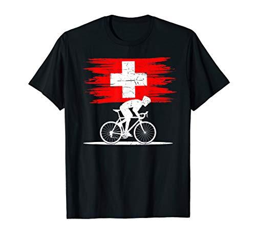 Schweiz Rennradfahrer Rennvelo Fahrer Velo Fahrrad T-Shirt