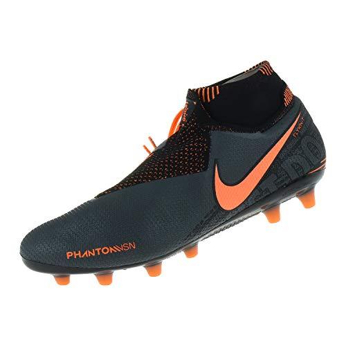 Nike Unisex-Erwachsene Phantom Vision Elite Dynamic Fit Ag-pro Fußballschuhe Adult, Dunkelgrau/Helle Mango/Schwarz, 41 EU
