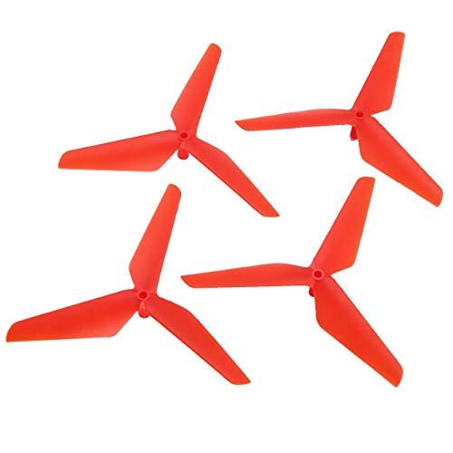 Qewmsg 2 Pares CW/CCW hélice Props Blade para Syma X5C RC Drone Quadcopter Aviones UAV repuestos Accesorios componente
