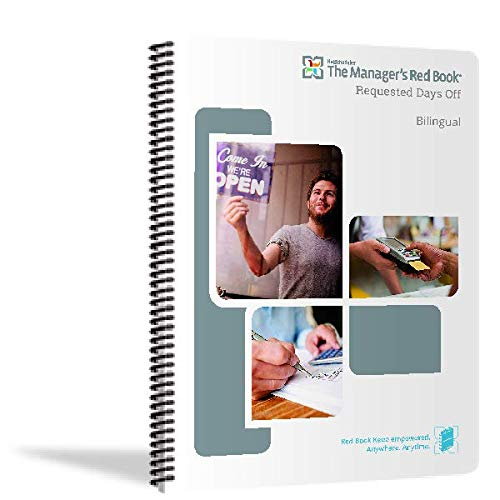The Manager's Red Book - Request Days Off logbook/Notebook/Planner, 8.5'x11' semi-Annual, 118 Pages, 8 Lines per Day (F2835) (January 2021 - June 2021)