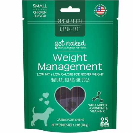 Get Naked Weight Management Dental Chew Sticks For Dogs, Small/6.2-Ounce, 18 Sticks/Pack