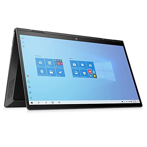 HP ENVY x360 13-ay0477ng (13,3 Zoll / Full HD Touch) 2in1 Convertible (AMD Ryzen 7 4700U, 16GB DDR4 RAM, 512GB SSD, AMD Grafik, Windows 10) schwarz, Fingerabdrucksensor