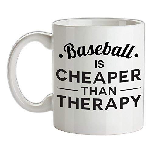 N\A El béisbol es más Barato Que la Terapia Taza de café de cerámica Blanca