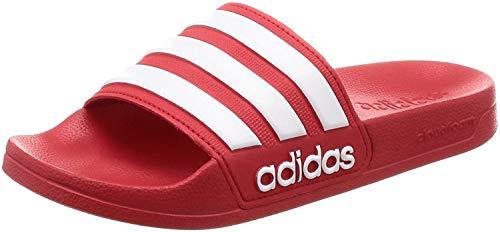 Adidas Adilette Cloudfoam Slides Chanclas Unisex, Rojo (Scarlet/Footwear White), 37 EU (4 UK)