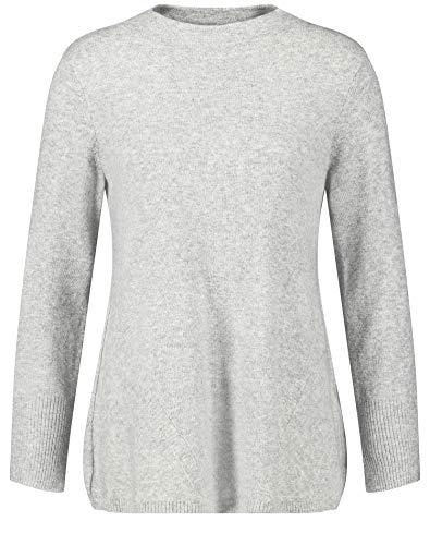 Gerry Weber Damen 271027-35731 Pullover, Mehrfarbig (Silber Grau-Melange 204560), (Herstellergröße: 40)