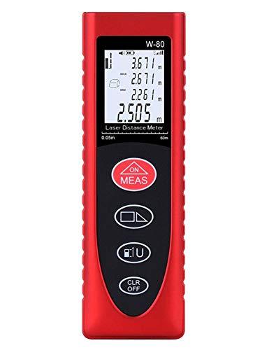 cypressen 80 M Entfernungsmesser (Messbereich 0,05-80 m, LCD Display mit Beleuchtung, ± 2,0 mm Messgenauigkeit, Hohe Präzision Distanzmessgerät