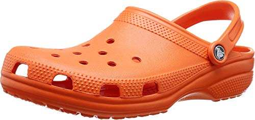Crocs Men's and Women's Classic Clog, Tangerine, 8 Women/6 Men