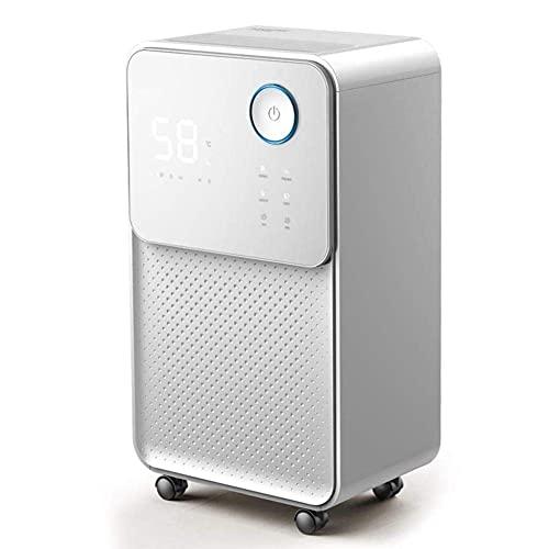 QCSMegy Deumidificatore Elettrico Intelligente, asciugatrice silenziosa con Touch Screen per ba ement/Camera da Letto/Bagno/Camper/Armadio,Bianco